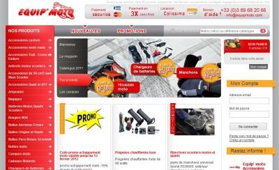 Site de vente d'accessoires moto Equip'Moto