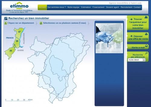 Site internet de l'agence immobilière Etimmo