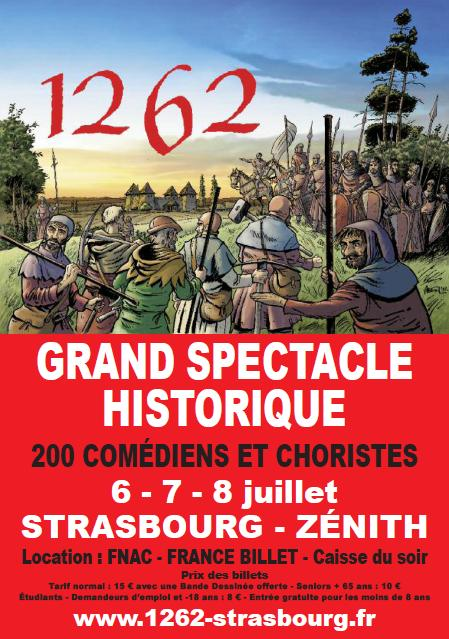 Affiche du spectacle 1262, Strasbourg Ville Libre