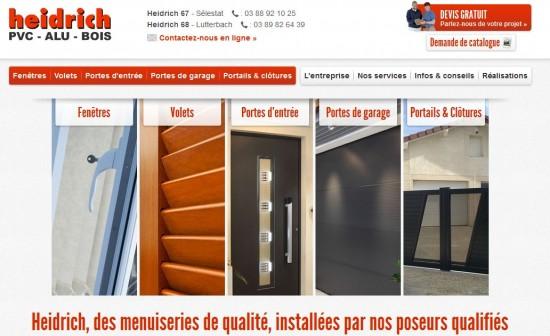 Site web des Menuiseries Heidrich