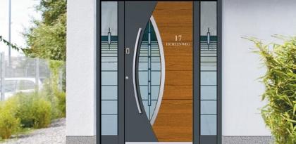 Porte aluminium et bois