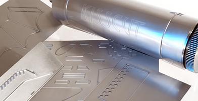 Plaque de découpe de l'entreprise familiale Kisscut, en Alsace