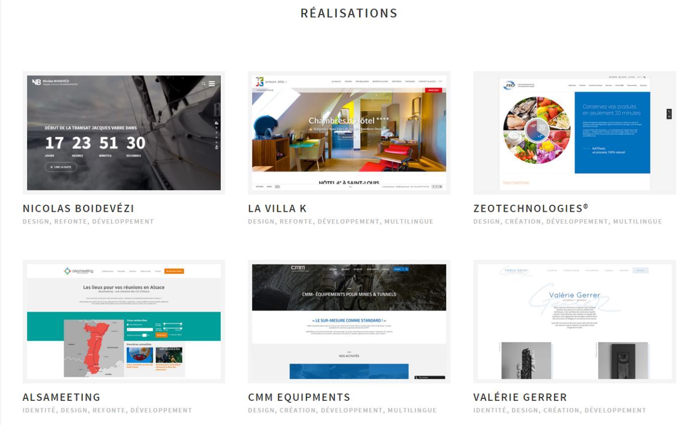 Réalisations de l'agence web Oboqo à Mulhouse