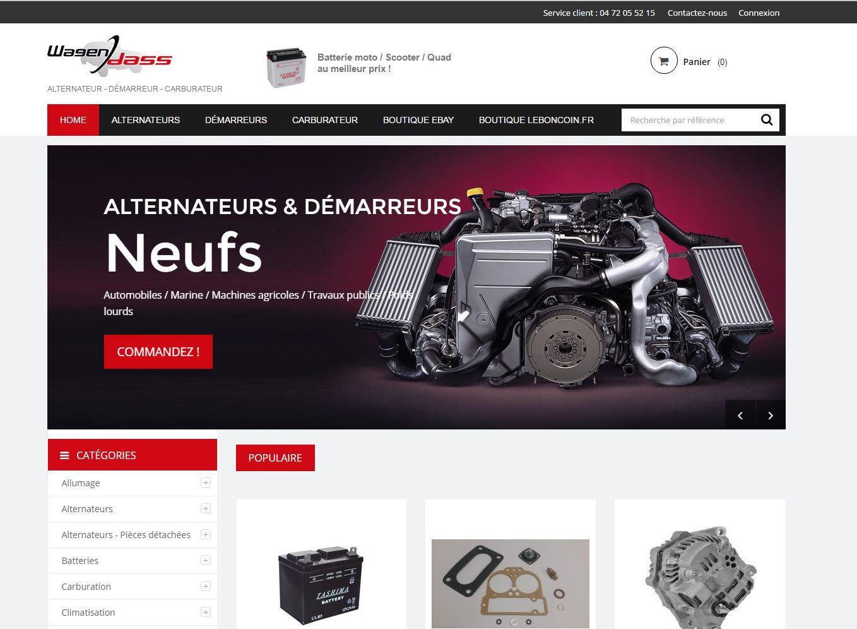 Page d'accueil du nouveau site Wagendass